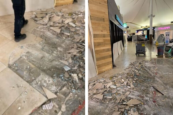 Interior Demolition - Shopping Mall - Flooring Contractor - L Cox Flooring