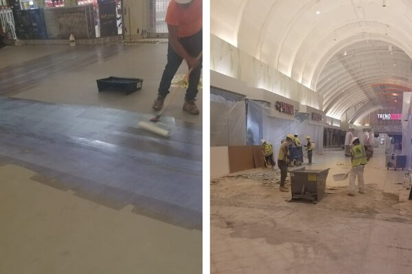 Interior Demolition Shopping Mall - Florida Flooring Contractor L Cox Flooring