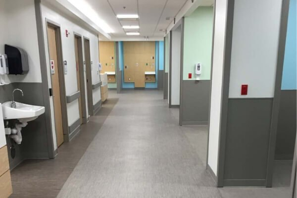 Medical Facility - Commercial Flooring Installation - Carpet Tile