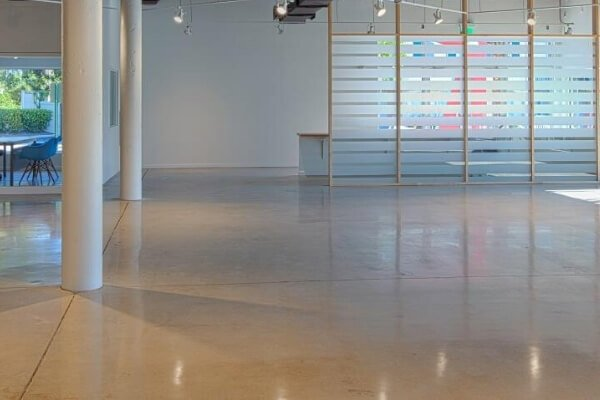 Polished Concrete Commercial Flooring - Art Warehouse