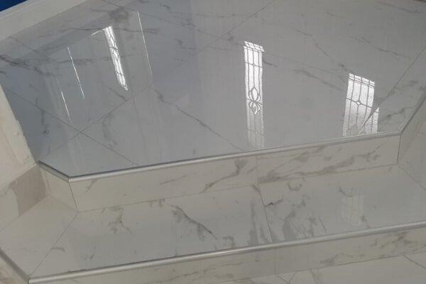 Residential Project - Living Room Flooring - Porcelain - L Cox Flooring - Flooring Contractor
