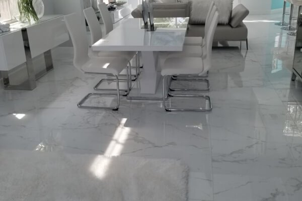 Residential Project - Living Room Flooring - Porcelain - L Cox Flooring in Florida