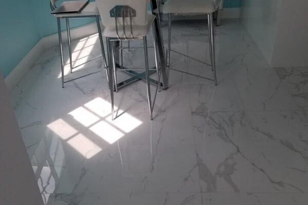 Residential Project - Living Room Flooring - Porcelain - L Cox Flooring