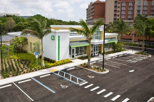 Banking Commercial Flooring Project - TD Bank in South Florida - Porcelain Tile Installation