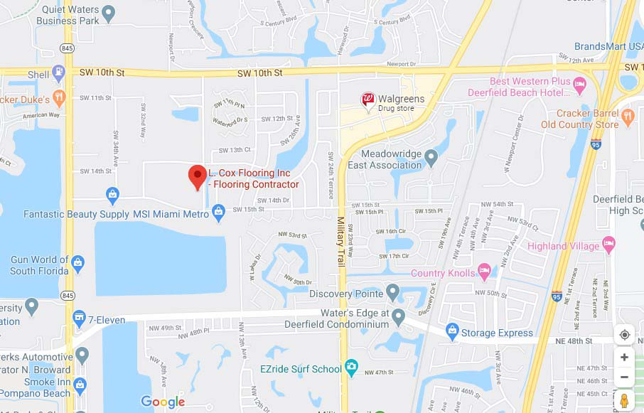 L Cox Flooring - Deerfield Beach - Google Maps Location