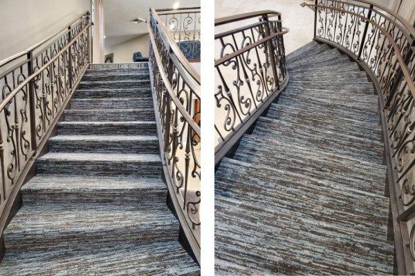 Carpet Staircase - L Cox Flooring Commercial Jobs - Palm Beach