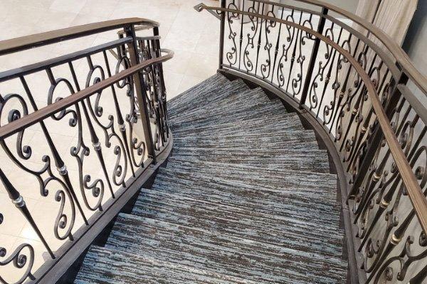 Carpet Stairs - L Cox Flooring Commercial Jobs - Palm Beach