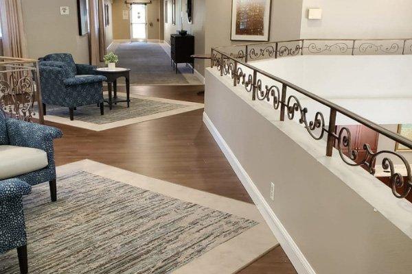 Senior Living Facility Flooring Renovation - Carpet - LVT - L Cox Flooring